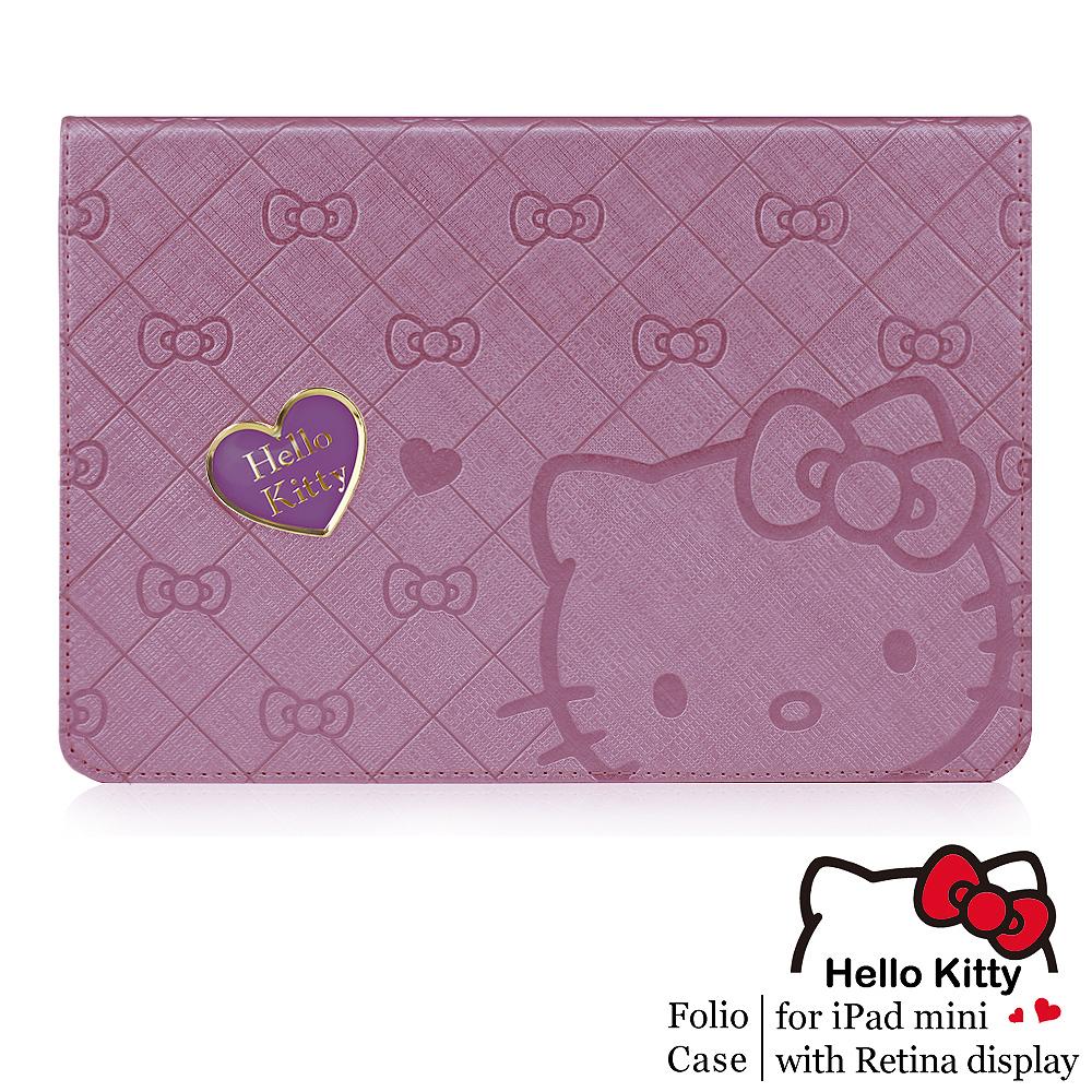 GARMMA Hello Kitty iPad Mini2 Retina摺疊式皮套–寵愛紫