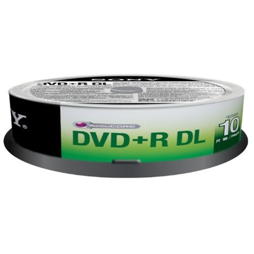 SONY 8X DVD+R DL 8.5GB  燒錄片 (10片)