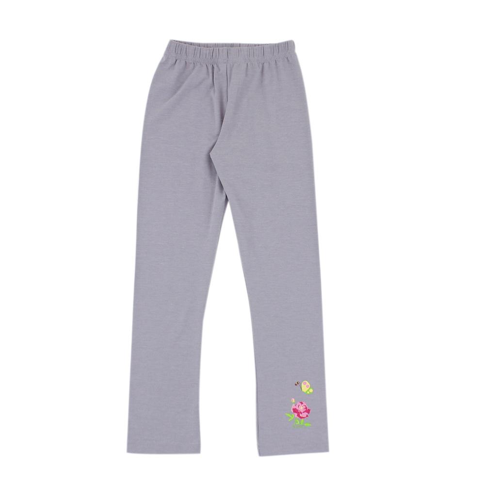 愛的世界 SUPERMINI 彈性鬆緊帶保暖褲-灰/10歲