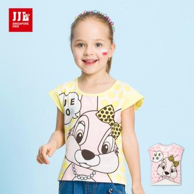 JJLKIDS 小貴婦蝴蝶結兔兔印花T恤(2色)