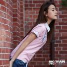 BIG TRAIN 女款日式印花短袖襯衫-女-白色