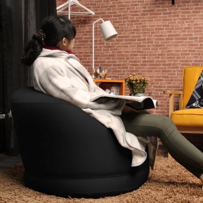 H&D CHIKA千夏和風超微粒舒適 圓形懶人沙發