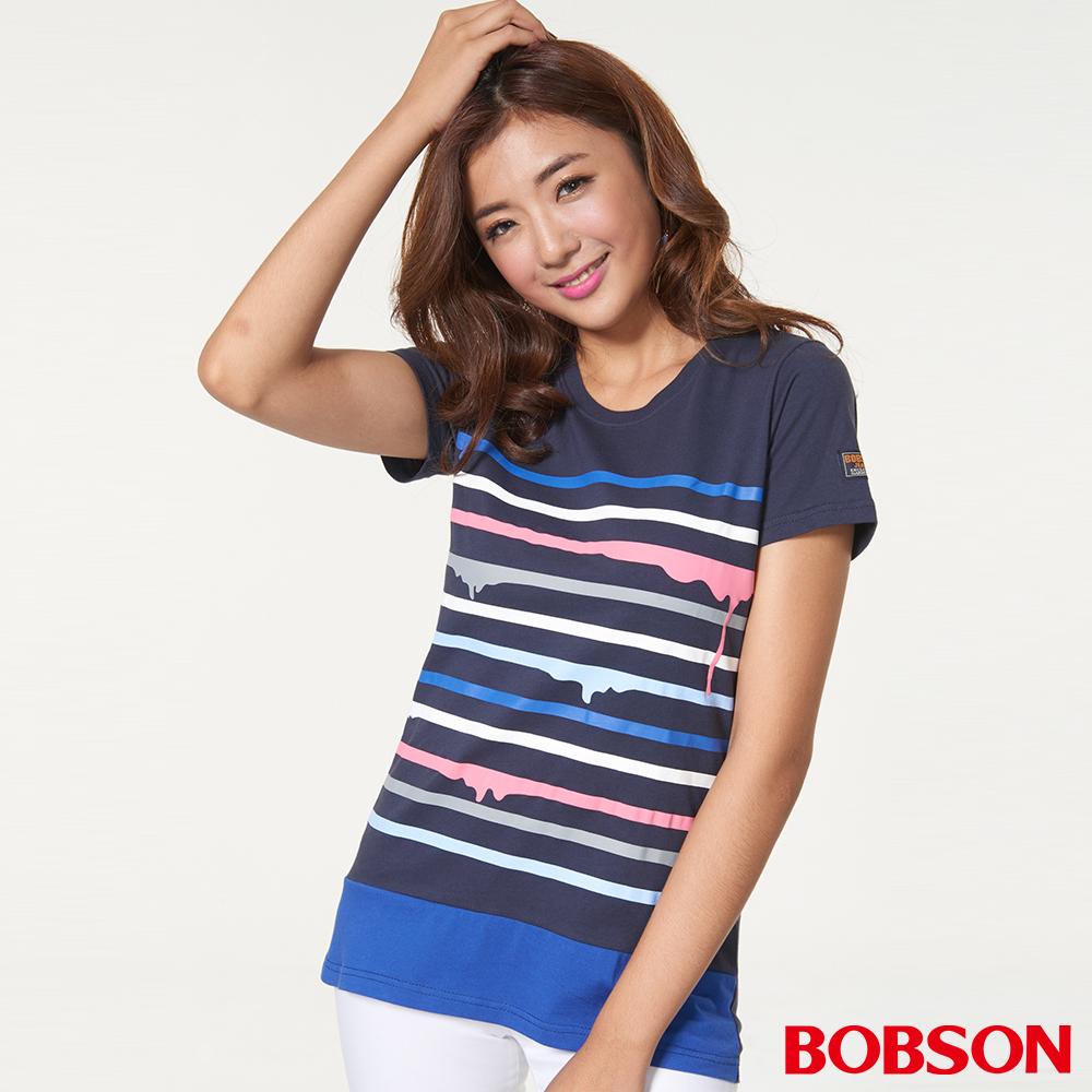 BOBSON 女款條紋上衣