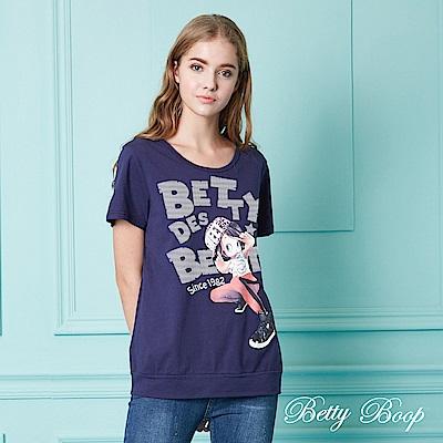 Betty Boop貝蒂 貝蒂印圖圓領棉質上衣(共兩色)
