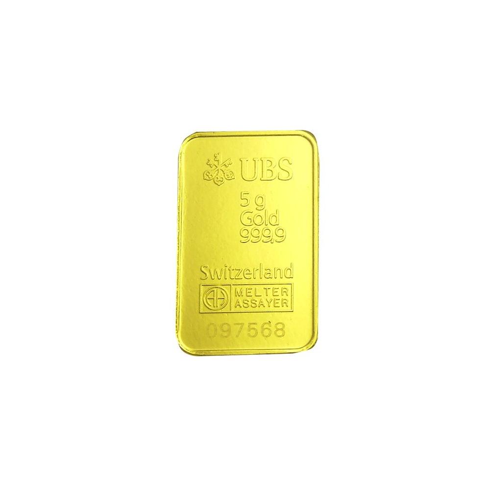 【UBS kinebar】黃金條塊(5公克)
