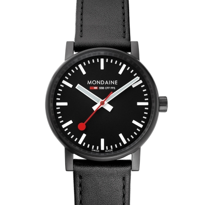 MONDAINE 瑞士國鐵 evo2 腕錶-黑/40mm