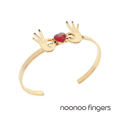 Noonoo Fingers Both Hands Heart Bangle 雙手愛心手環