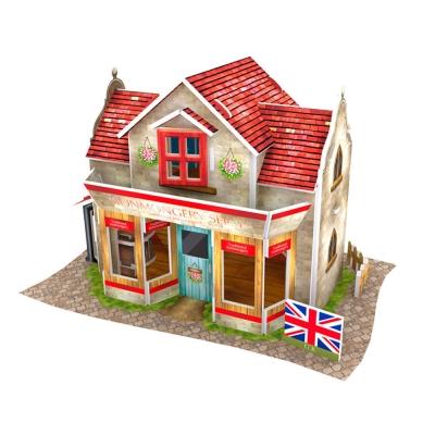 世界之窗 3D立體拼圖 《英國》五金店 3D World Style