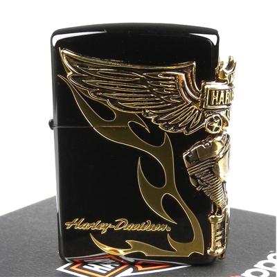 【ZIPPO】日系~Harley-Davidson-哈雷-離子噴鍍表面加工打火機-金