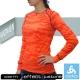 【瑞士 ODLO】限量款 WARM EFFECT 女圓領機能型銀離子保暖內衣/橘迷彩 product thumbnail 1