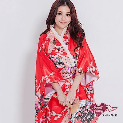 角色扮演 櫻花著物 日系和服表演派對服(紅F) AngelHoney天使霓裳
