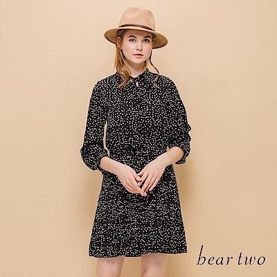 beartwo 浪漫女神復古圓點印花連身洋裝
