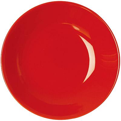EXCELSA Trendy陶製深餐盤(紅20cm)