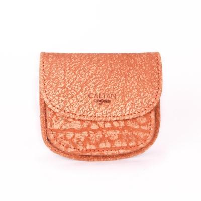 CALTAN-男女用真牛皮零錢包-皮夾-皮件-輕巧