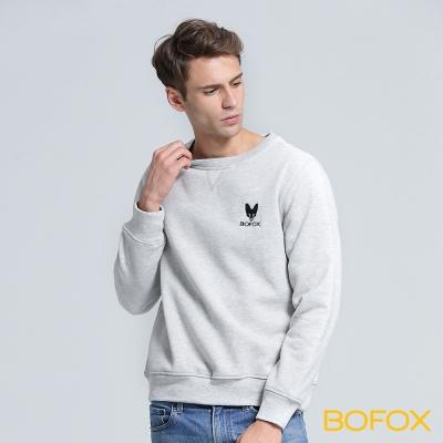BOFOX 狐狸頭長袖T恤-淺灰