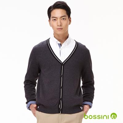 bossini男裝-線衫外套02灰