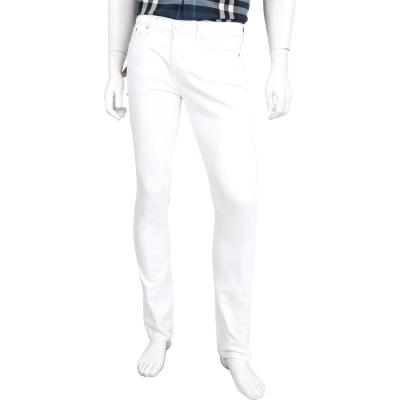 BURBERRY 白色修身剪裁伸縮日本丹寧牛仔褲(男款)