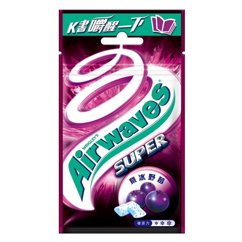 Airwaves 無糖極酷嗆涼紫冰野莓口香糖口味(20粒)