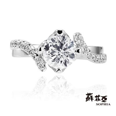 蘇菲亞SOPHIA 求婚戒-纏綿0.30克拉鑽石戒指