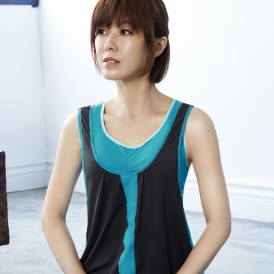 推Audrey-樂活瑜珈 運動型罩衫(自信灰)