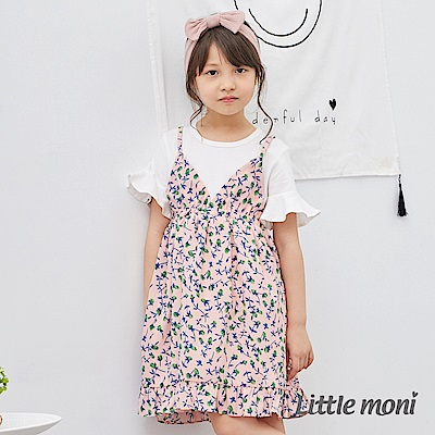 Little moni 碎花假兩件式洋裝 (2色可選)