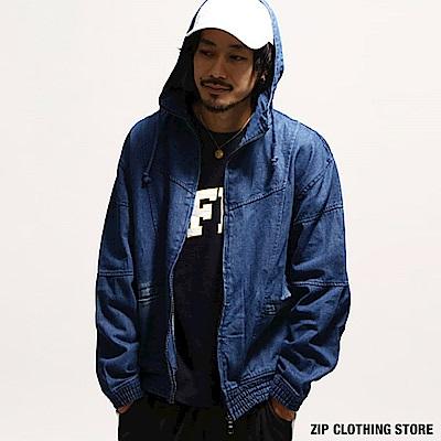 丹寧連帽外套(3色) ZIP日本男裝