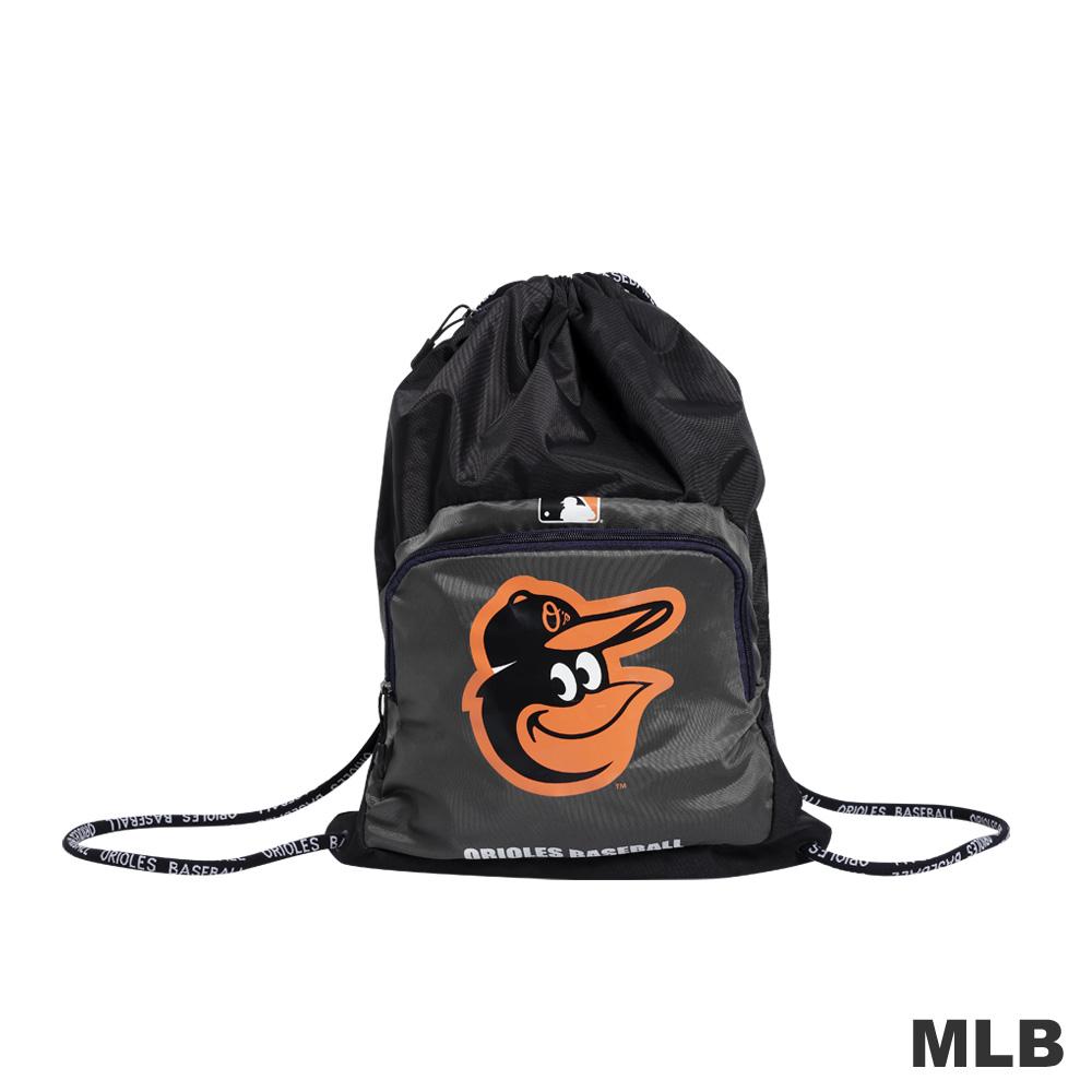 MLB配件-巴爾的摩金鶯隊束口抽繩袋-深麻灰色