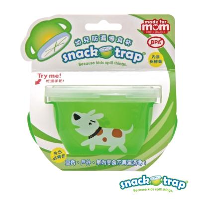 美國 Snack-Trap 幼兒防漏零食杯 - 綠底白狗