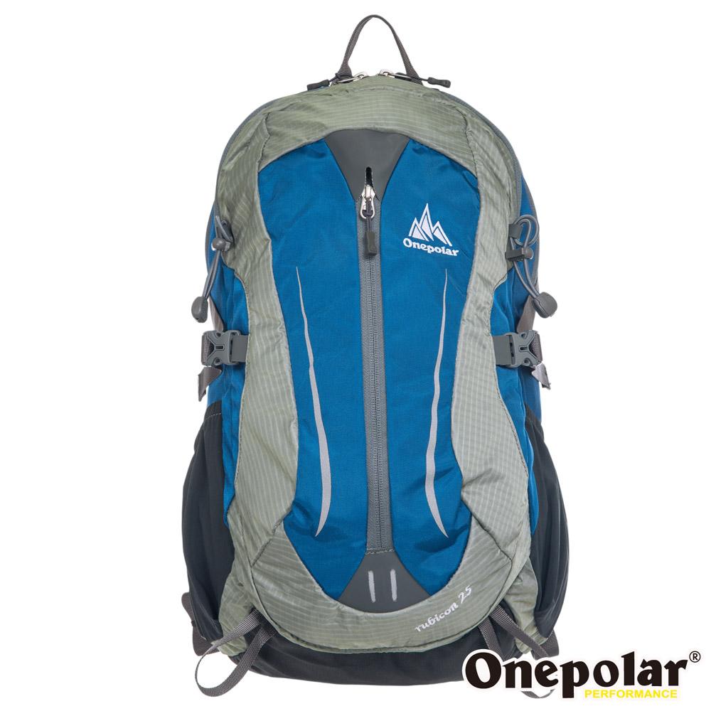 ONE POLAR 樂活蜂巢透氣背包-湖水藍 PL01595LB