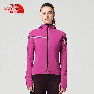 The North Face北面女款粉色防潑水運動輕量風衣