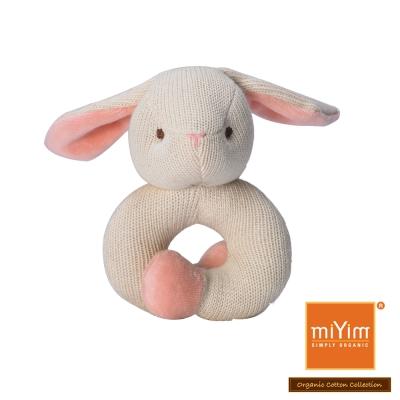 美國miYim有機棉 固齒器 手圈圈款-兔兔
