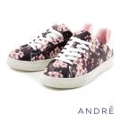 ANDRE-櫻花休閒平底鞋-櫻花黑
