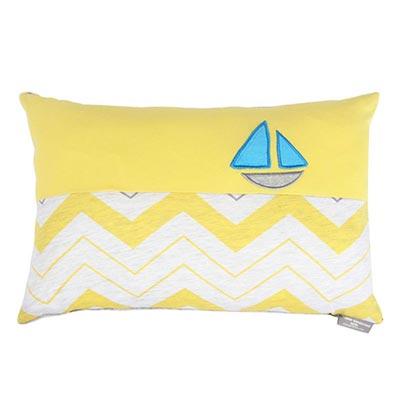 Yvonne Collection帆船30x45cm方形抱枕-嫩黃