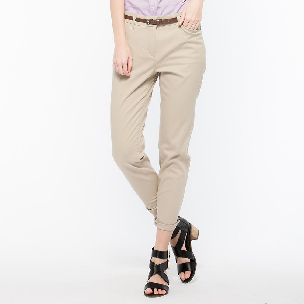 Hang Ten - 女裝 - 時尚簡約合身褲 -米