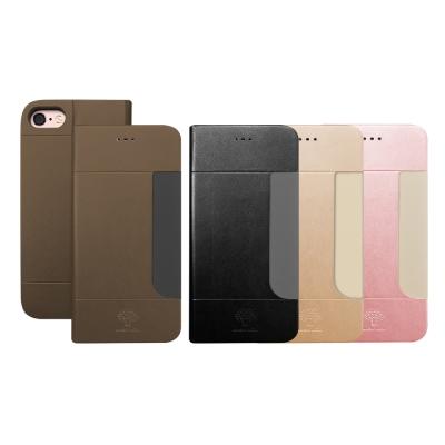 Metal-Slim APPLE iPhone 7 高仿小羊皮前卡套皮套
