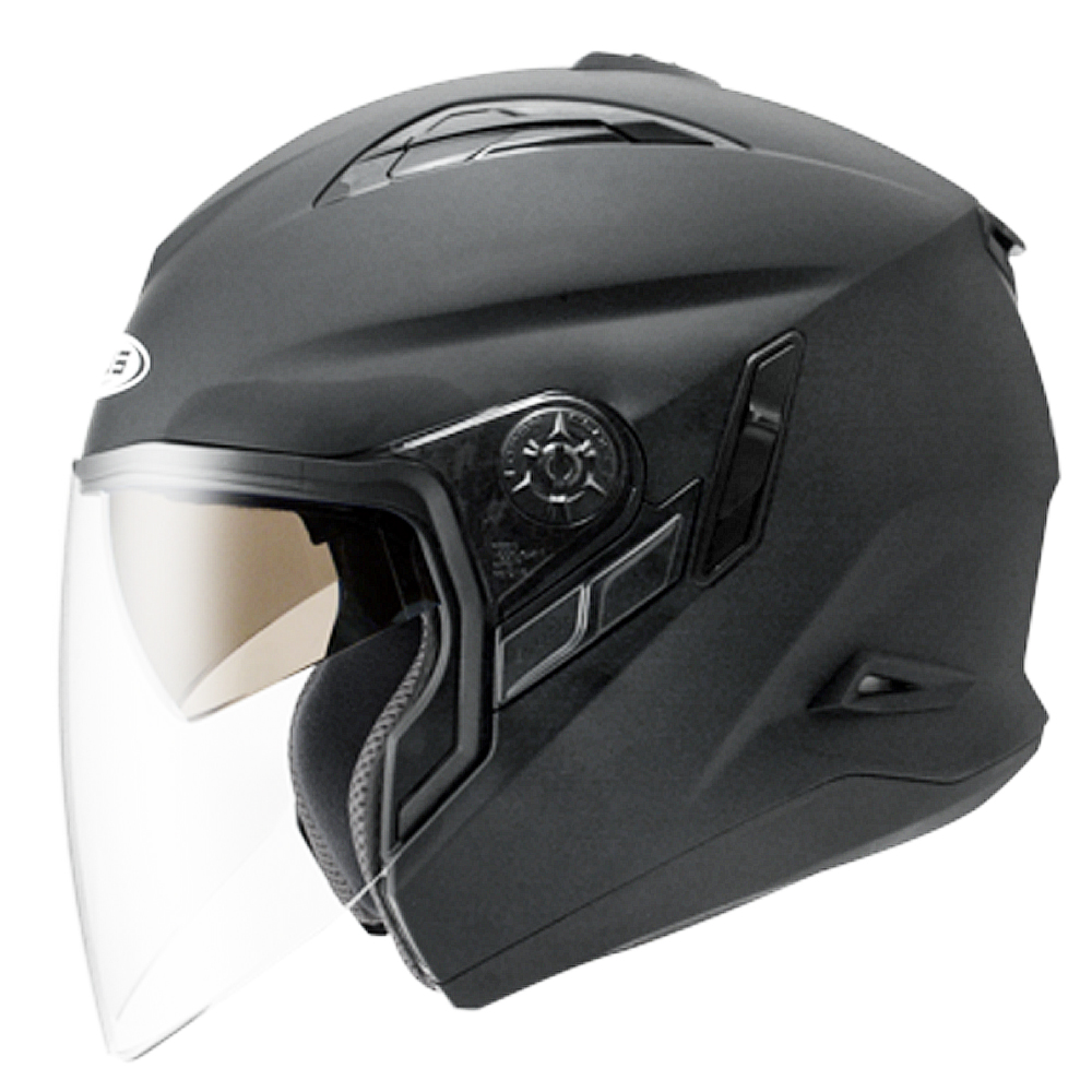 ZESU瑞獅3/4罩式ZS613B安全帽(消光黑)