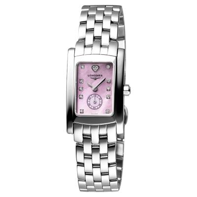 LONGINES浪琴 DolceVita 系列小秒針真鑽女錶-珍珠貝x銀/19mm