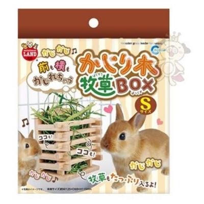 Marukan 兔兔愛吃草 壁掛式 木製牧草盒 S號 ML-111