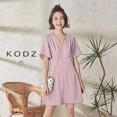 東京著衣-KODZ 小女人甜美氣質V領設計洋裝-S.M.L(共一色)