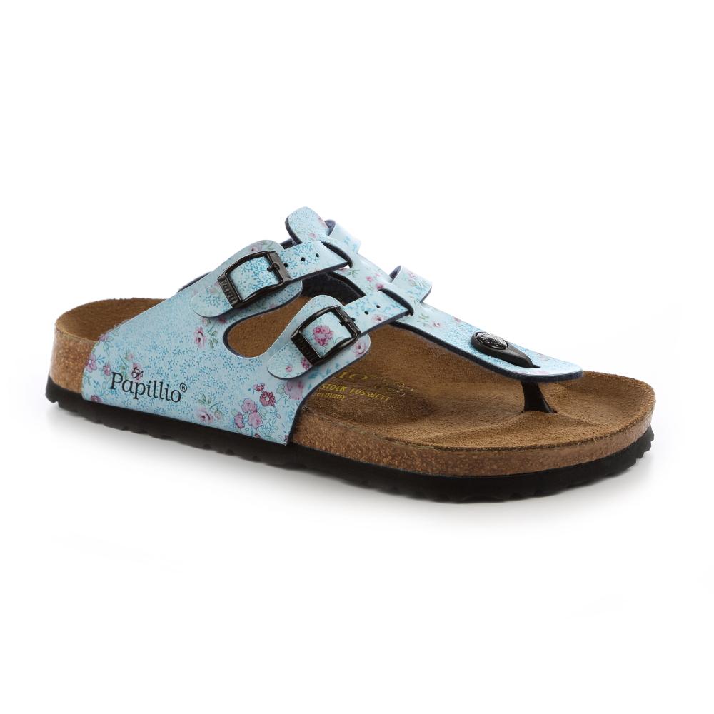 勃肯Papillio 158031。SPARTA斯巴達 夾腳二條拖鞋(藍底小碎花)