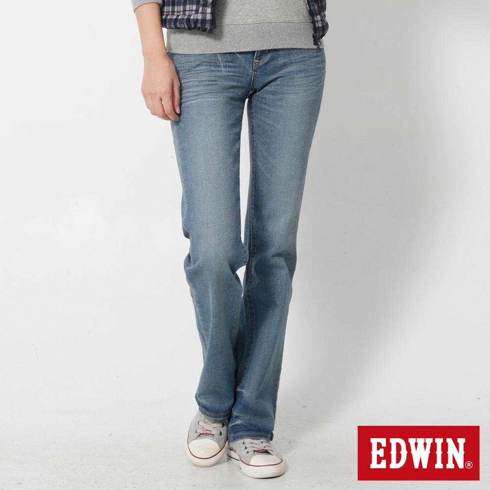 EDWIN MISS EG503靴型褲-女-石洗藍