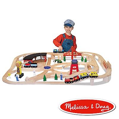 美國瑪莉莎 Melissa & Doug 交通工具 - 木製鐵路軌道組