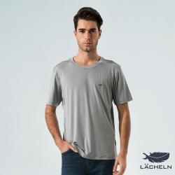 【LACHELN】COOLMAX彈性圓領衫-灰(L62MA04)