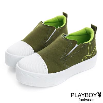 PLAYBOY 街頭進化 個性百搭厚底休閒鞋-綠(女)