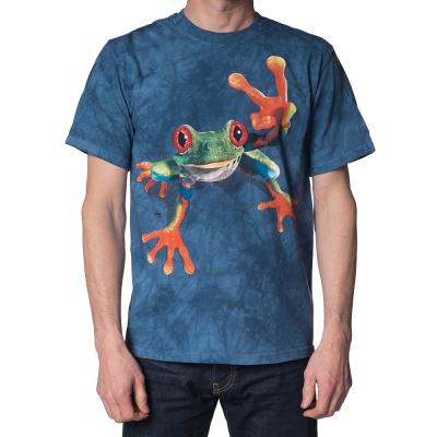 摩達客-美國進口The Mountain勝利蛙 純棉環保短袖T恤