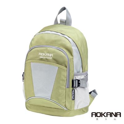 AOKANA奧卡納 輕量防潑水休閒小型後背包(大地綠)68-088