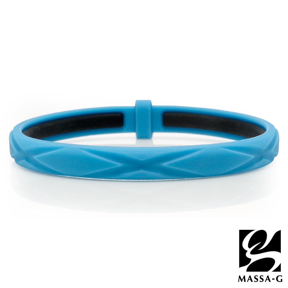 MASSA-G 繽紛炫彩鍺鈦能量手環-藍