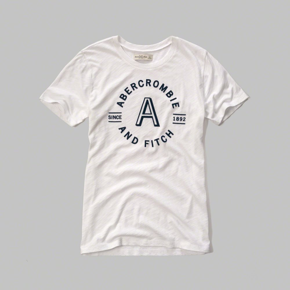 AF a&f Abercrombie & Fitch 女T恤 白色 0013