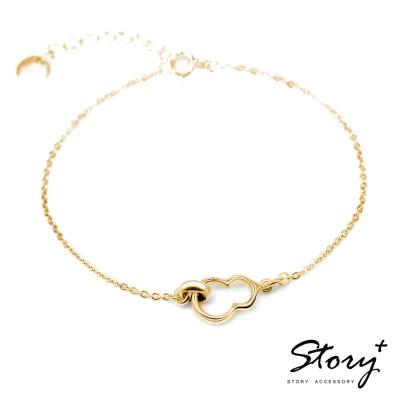 STORY故事銀飾-葫蘆 純銀手鍊(黃K金)