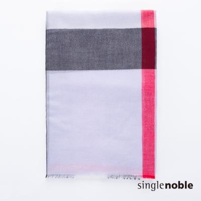 獨身貴族 自信都會英倫情懷格紋設計圍巾(3色)
